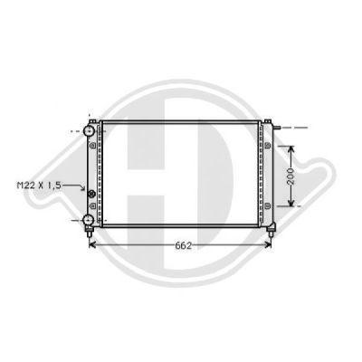Radiateur, refroidissement du moteur - Diederichs Germany - 8504816