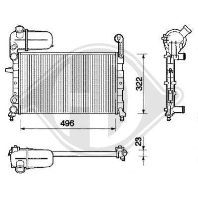 Radiateur, refroidissement du moteur - HDK-Germany - 77HDK8505961