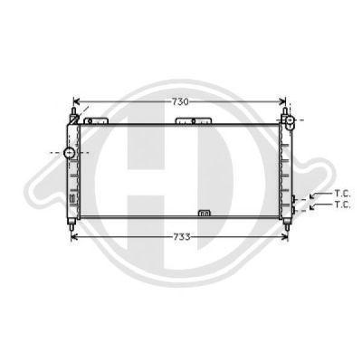 Radiateur, refroidissement du moteur - HDK-Germany - 77HDK8507116