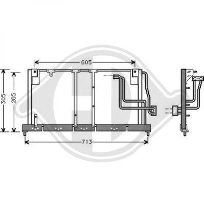 Condenseur, climatisation - Diederichs Germany - 8508116