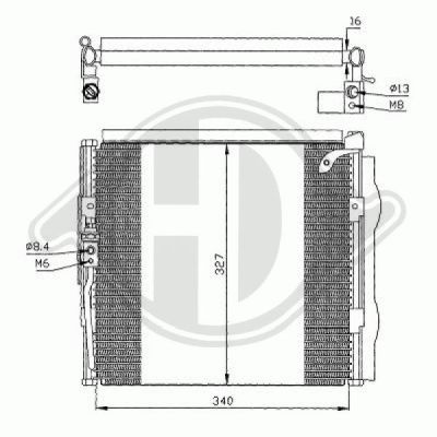 Condenseur, climatisation - Diederichs Germany - 8520500