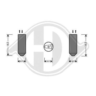 Filtre déshydratant, climatisation - Diederichs Germany - 8520502