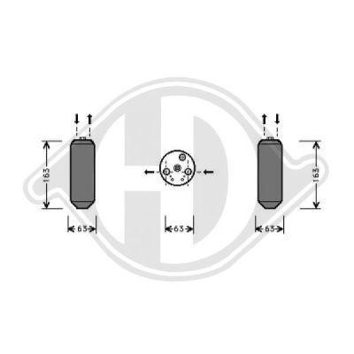 Filtre déshydratant, climatisation - Diederichs Germany - 8520601