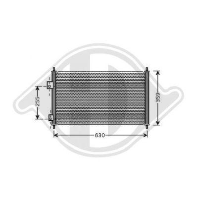 Condenseur, climatisation - Diederichs Germany - 8520800