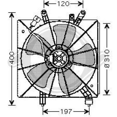 Ventilateur, refroidissement du moteur - Diederichs Germany - 8520801