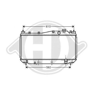 Radiateur, refroidissement du moteur - Diederichs Germany - 8520802