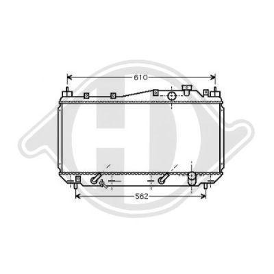 Radiateur, refroidissement du moteur - Diederichs Germany - 8520803
