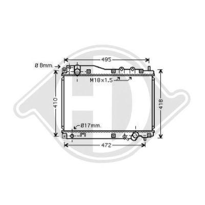 Radiateur, refroidissement du moteur - Diederichs Germany - 8520804