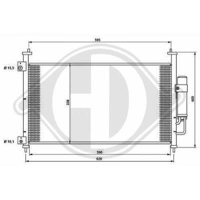 Condenseur, climatisation - Diederichs Germany - 8521000