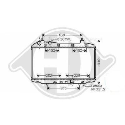 Radiateur, refroidissement du moteur - Diederichs Germany - 8521005