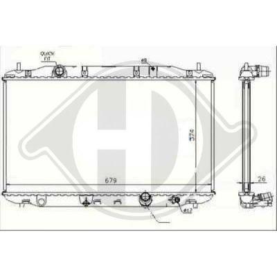 Radiateur, refroidissement du moteur - HDK-Germany - 77HDK8521006