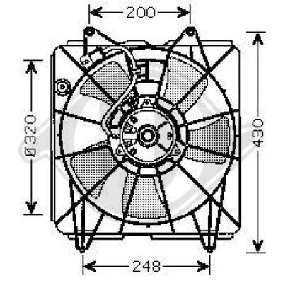 Ventilateur, refroidissement du moteur - Diederichs Germany - 8521007