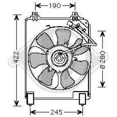 Ventilateur, condenseur de climatisation - Diederichs Germany - 8521008