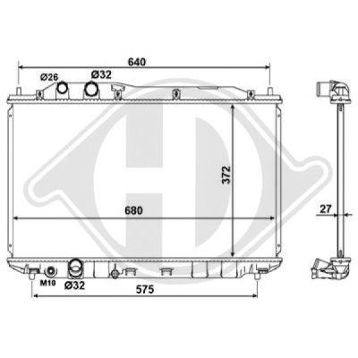 Radiateur, refroidissement du moteur - HDK-Germany - 77HDK8521009