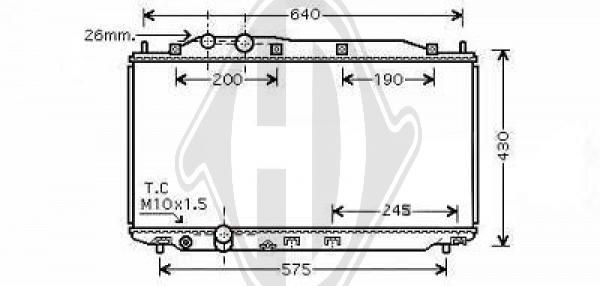 Radiateur, refroidissement du moteur - HDK-Germany - 77HDK8521010