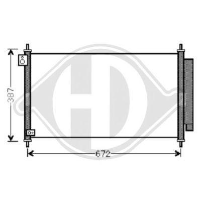 Condenseur, climatisation - Diederichs Germany - 8521100