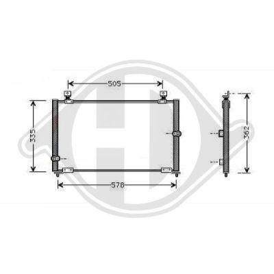 Condenseur, climatisation - Diederichs Germany - 8521601