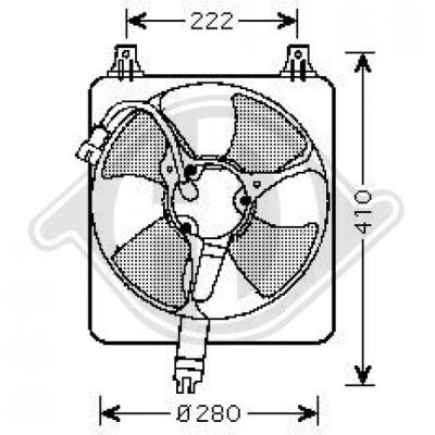 Ventilateur, condenseur de climatisation - HDK-Germany - 77HDK8521651