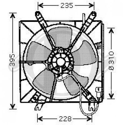 Ventilateur, refroidissement du moteur - Diederichs Germany - 8521653