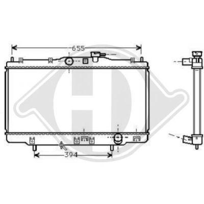 Radiateur, refroidissement du moteur - Diederichs Germany - 8521701