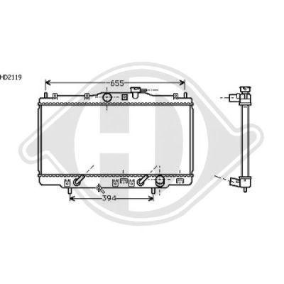 Radiateur, refroidissement du moteur - Diederichs Germany - 8521702