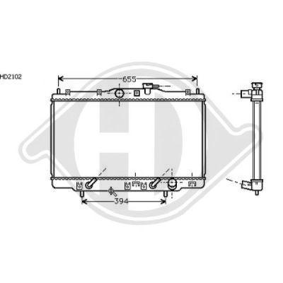 Radiateur, refroidissement du moteur - HDK-Germany - 77HDK8521704