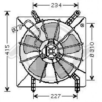Ventilateur, refroidissement du moteur - Diederichs Germany - 8521705