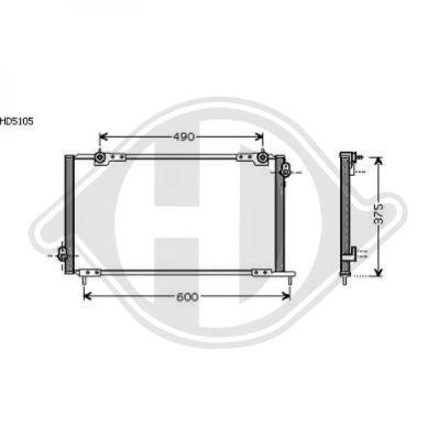 Condenseur, climatisation - Diederichs Germany - 8521710