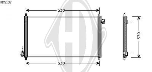 Condenseur, climatisation - Diederichs Germany - 8521711