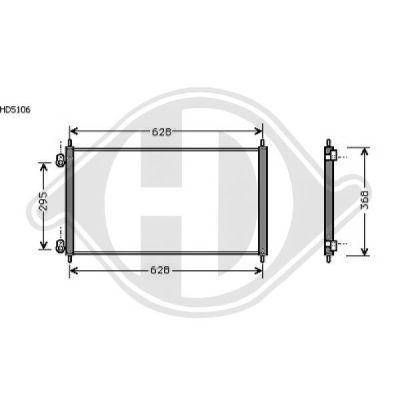 Condenseur, climatisation - Diederichs Germany - 8521712