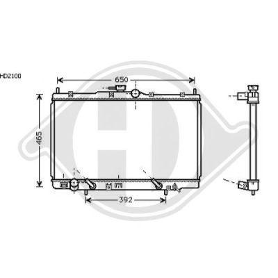 Radiateur, refroidissement du moteur - Diederichs Germany - 8521715