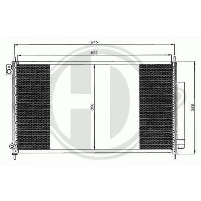 Condenseur, climatisation - Diederichs Germany - 8521900