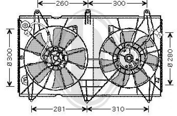 Ventilateur, refroidissement du moteur - Diederichs Germany - 8521901
