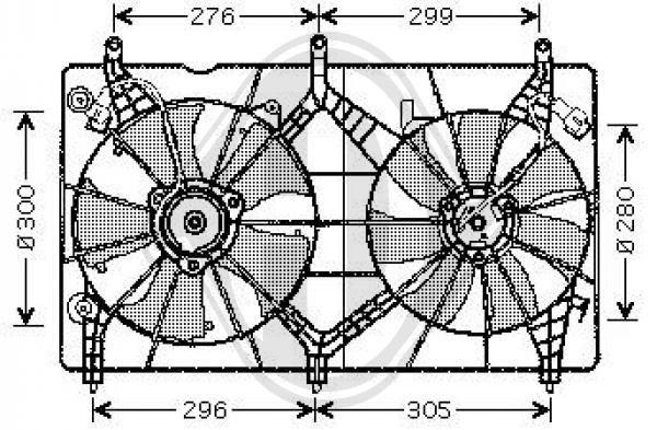 Ventilateur, refroidissement du moteur - Diederichs Germany - 8521902