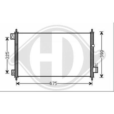 Condenseur, climatisation - Diederichs Germany - 8521903