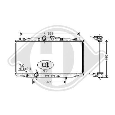 Radiateur, refroidissement du moteur - Diederichs Germany - 8521905