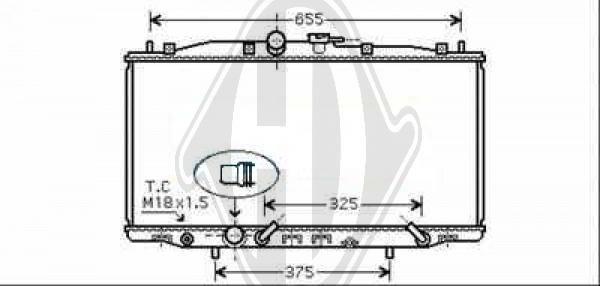 Radiateur, refroidissement du moteur - Diederichs Germany - 8521906