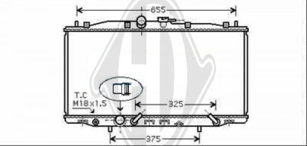 Radiateur, refroidissement du moteur - Diederichs Germany - 8521907