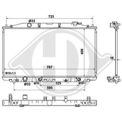 Radiateur, refroidissement du moteur - Diederichs Germany - 8521916