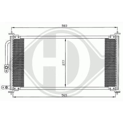 Condenseur, climatisation - Diederichs Germany - 8522200