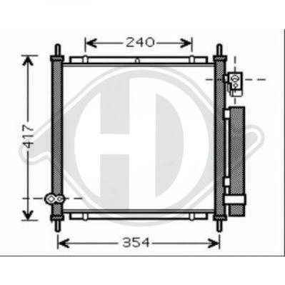 Condenseur, climatisation - Diederichs Germany - 8524001
