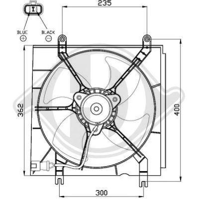 Ventilateur, refroidissement du moteur - Diederichs Germany - 8528001