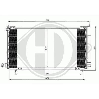 Condenseur, climatisation - HDK-Germany - 77HDK8528100