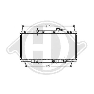 Radiateur, refroidissement du moteur - Diederichs Germany - 8528105