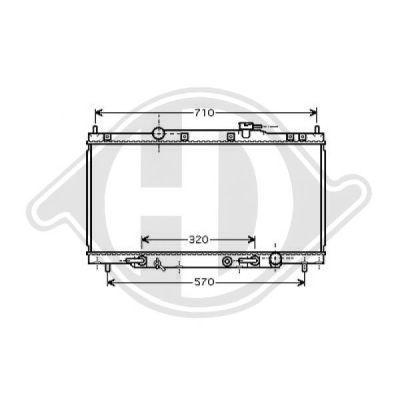 Radiateur, refroidissement du moteur - HDK-Germany - 77HDK8528106