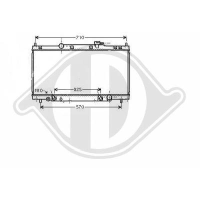 Radiateur, refroidissement du moteur - Diederichs Germany - 8528107