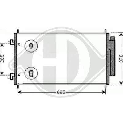 Condenseur, climatisation - Diederichs Germany - 8528305