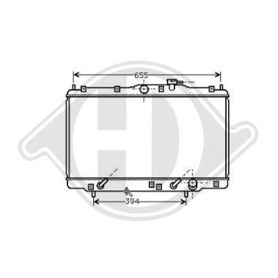 Radiateur, refroidissement du moteur - Diederichs Germany - 8529005
