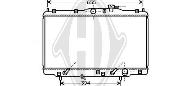 Radiateur, refroidissement du moteur - Diederichs Germany - 8529006
