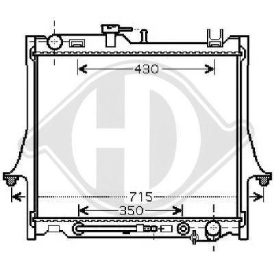 Radiateur, refroidissement du moteur - Diederichs Germany - 8540280